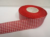 2 metres or full roll x 25mm Gingham Ribbon Double Sided check UK